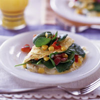 TexMex Spinach omelette