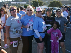 Tamara Lee, Karen Redfearn, Rhonda Downey, Clem Lafrades (1st Mammogram 33yrs old), & Suzan Tahir,